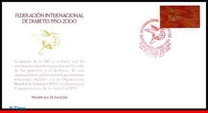 2211 MEXICO 2000 INTL.DIABETES FEDERATION, HUMMINGBIRD, BIRDS, MI# 2877, FDC