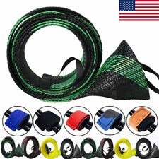 8Pcs Rod Sock Fishing Sleeve Cover Braided Mesh Protector Pole Gloves Tools