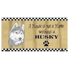 USA Novelty Number Plate - Husky - House Is Not A Home  Sign Decor