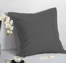 """1 Pair 2 Pieces Euro Pillow Shams 26"""" x 26"""" + 1.5"""" Hem Solid Colors Machine Wash"""