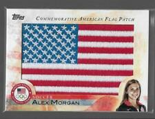 STUNNING RARE 2012 TOPPS OLYMPIC ALEX MORGAN FLAG PATCH CARD ~ USA SOCCER LEGEND