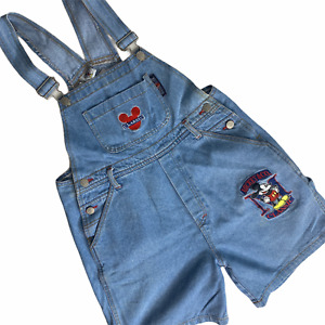 Disney Mickey & Co Overall Shorts Youth 14 Women Small Cargo Embroidered Vintage