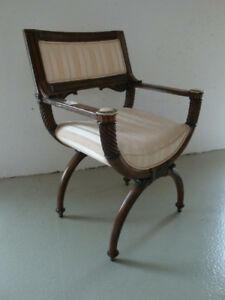 RS0119-117: Stuhl Scherenstuhl vor 1900 wohnfertig