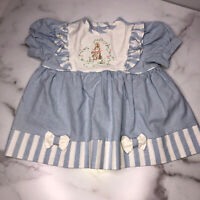 Vintage A Beatrix Pottery Baby Infant Dress Embroidered Rabbit Size 3-6 Mth