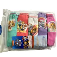 Girls 5 PACK Paw Patrol Pants Briefs Knickers 100% Cotton Age 18m 2 3 4 5 Years