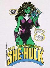 M * Nos vtg 80s 1989 She Hulk marvel comic t shirt * 38.134 the incredible