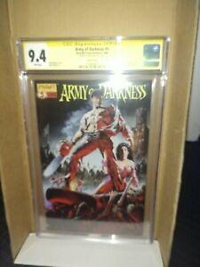 Army Of Darkness #5 original movie poster cover CGC 9.4 Signed Sam Raimi (Rare)