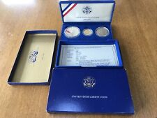 1886-1986 U.S. Statue of Liberty 3-Coin Commemorative Proof Set-Complete-Gold