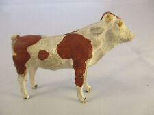 Vintage Brown and White Cow with Stick Legs