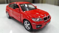 BMW X6 rojo Kinsmart modelo de juguete 1/38 escala coche de metal regalo
