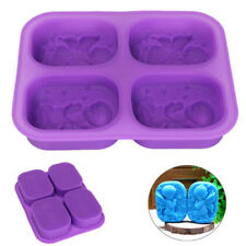 Cute 4 Holes Prayer Angels Silicone Mold Soap Cake Chocolate Mould Baking Tool