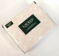 Ralph Lauren Queen Sheet Set Floral Paisley Pink White 100% Cotton 4 Pc Set Nwt