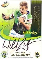2007 SELECT NRL TOP PROSPECTS SIGNATURE #TP3: WILLIAM ZILLMAN #260/350 RAIDERS