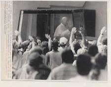 Greeting the Pope- Pope John Paul II as he rides the popemobile 1987-Press Photo
