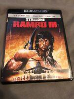 Rambo III 3 4K Ultra HD + BluRay, Stallone, Brand New
