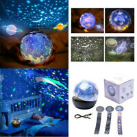 Star Night Light Universe LED Rotating Projector Lamp Bedroom Gifts For Kid Baby