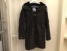 TNA Aritzia black parka winter coat jacket hooded pockets women's without fur S