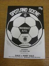 11/01/1986 Rochdale V Port Vale (cuatro páginas, plegado). gracias por ver este I