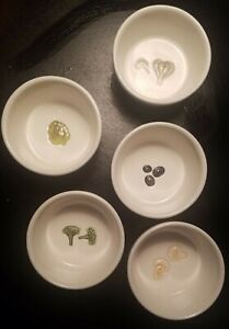 5 Pottery Barn Buono Pizza topping cups RARE EUC