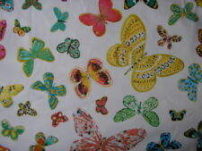3 - 5 Metres 100% Cotton Craft Fabric Butterfly
