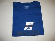 NWT NAUTICA Men's Short Sleeved Graphic Crew Neck T-Shirt Size M Blue Tee