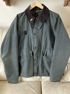 Vintage Barbour Spey Fly Fishing Wax Jacket Size Large Condition VERY RARE