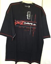 men 5x T shirt short sleeve urban Multi Stitch with applique and prints NWT