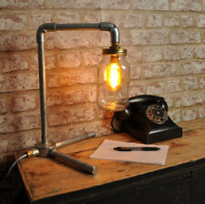 THE LANGMORE New Industrial Style Mason Jar Desk Lamp Vintage Retro Bed Side