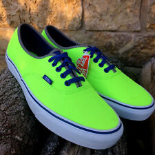 Vans Authentic (Brite) Neon Green/Blue NIB Size US 10 Men's VN0004MLJOE