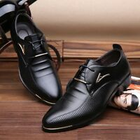 Formal Shoes Men Pointy Toe Oxfords Trendy Lace Up Brougues Business Party Shoes