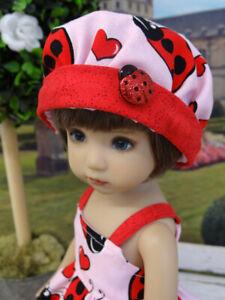 """Love Bug - dress, hat, tights & shoes for 13"""" Effner Little Darling Doll BJD"""