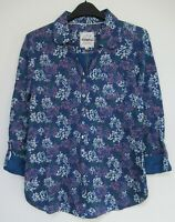 New Mistral Blue printed Bird Summer Tunic Blouse Top size 8 - 18