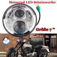 """Motorrad 7"""" DRL Hi/lo LED-Projektion Scheinwerfer für Harley Davidson Jeep"""