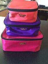 Victoria's Secret 3 Piece Travel Trio Cosmetic Cases Brand New