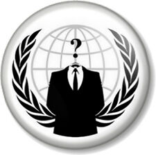 "Anonymous 1"" 25mm Pin Button Badge Anarchist V for Vendetta Hacker Business Suit"