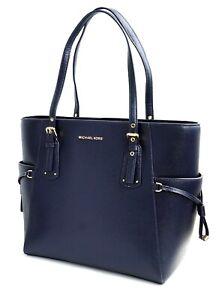 Michael Kors Bag Handbag Voyager Ew Tote Bag Dark Blue New