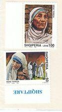 ALBANIA - Bustina 2 francobolli serie MADRE TERESA DI CALCUTTA - No. 3