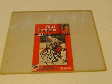 Paul Ranheim 28 Left Wing Singed collector Carolina Hurricanes Hockey autograph