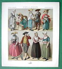 HOLLAND Costume Fisherman Zeelander - 1888 COLOR Antique Print A. Racinet