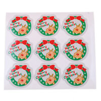 90Pcs Merry Christmas Sealing Stickers DIY Gifts Labels Candy Packaging Tags JP