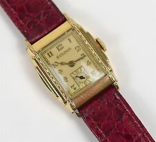 Vintage Bulova Men's 10k Gold Plated Stepped Case Manual Wind Watch Cal. 10AN