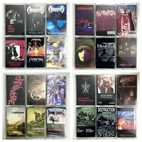 BUILD UR OWN Cassette Lot 80's, 90's - Thrash, Death Metal, Heavy Metal + More!