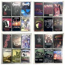 BUILD UR OWN Cassette Lot 80's, 90's - Thrash, Death Metal, Heavy Metal + More!