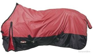 """Horse Turnout Sheet - Water-Repellent- 420 Denier Red - Sizes 60""""-84"""""""
