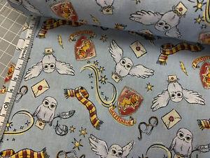 Baumwollstoff - Harry Potter - GRAU