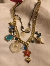 """BETSEY JOHNSON """"Under The Sea"""" Nautical Necklace"""
