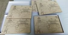 2 sets of 4 Nina Campbell for Lady Clare Placemats Manchu blue - free ship