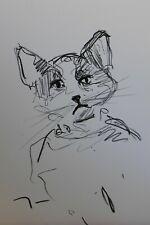"""JOSE TRUJILLO OIL PASTEL Painting ABSTRACT Minimalism 13X19"""" Baby Kitten New Art"""