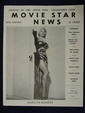 1950s MOVIE STAR NEWS Catalog MARILYN MONROE Cover&Images PINUP GIRL Photo Still