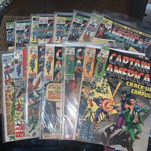 Lot of 20 CAPTAIN AMERICA Comic Books. Condition From G To VF.